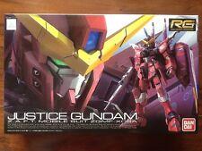 BANDAI 1/144 GUNDAM REAL GRADE SERIES JUSTICE GUNDAM ZAFT MOBILE SUIT # 09 NIB
