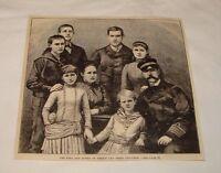 1887 magazine engraving ~ Greece KING AND ROYAL FAMILY