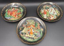 3 Tianex Russian Legends Fairy Tale Plates 1989, 1988 Bradford Exchange,Bradex