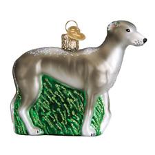 """Greyhound"" (Dog) (12483)X Old World Christmas Glass Ornament w/ OWC Box"