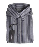 $250 Dolce & Gabbana Italy Gray Blue Mens Cotton Dress Shirt Size 15 1/2 40