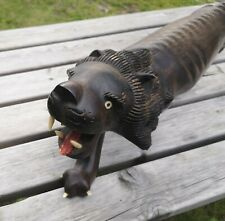 More details for fabulous genuine ebony huge prowling lion. ethnographica