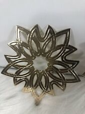Lot Of 2 MMA 1977 Snowflake Christmas Ornaments gold plated brass.