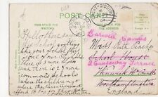 Great Gidding & Spokane USA 1907 Postmarks on Spokane Postcard, B246