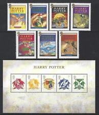 GRAN BRETAGNA 2007 Harry Potter unmounted Nuovo di zecca, Gomma integra, non linguellato Set di 7 PLUS foglio in miniatura