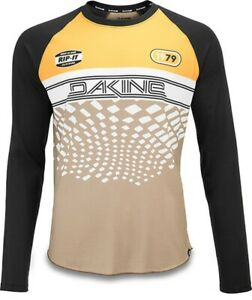 Dakine Men's Dropout L/S Cycling Bike Jersey Large Golden Glow Stingray New 2020