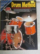 Progressive Drum method-new'old stock'instruction book plus compact disc