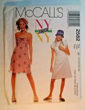 McCall's 2582 Ladies JR Dress  Size 1/2-7/8 sewing  pattern   New