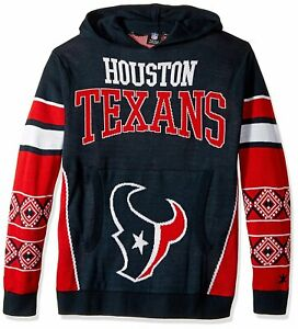 Forever Collectibles NFL Men's Houston Texans Big Logo Hooded Sweater, Navy