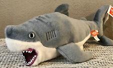 "NEW Wild Republic Great White Shark 15"" Stuffed Plush Realistic Rubber Teeth NWT"