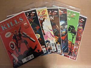 Deadpool Kills the Marvel Universe Again #1-5  (2017) Reg/Variant lot (NM-)