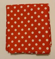 cotton poplin fat quarter with 6mm white spots on bright red background