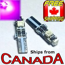 "Two PURPLE  T5 / 74 Type LED CANbus ""Error Free"" Bulbs  3x5050 chips 12v"