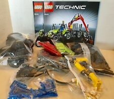 LEGO Technic 8049 Tractor with log Loader 2010 COMPLETE