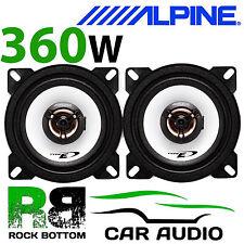 """ALPINE TOYOTA AYGO 2005 Onwards 4"""" 10cm 2 way 360W Car Coaxial Dash Speakers"""