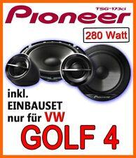 VW Golf 4 - PIONEER BOXEN 16cm LAUTSPRECHER 160mm TÜR VORNE hinten Einbauset