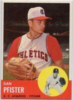 1963 Topps #521 Dan Pfister Near Mint-Mint+ Kansas City Athletics  FREE SHIPPING