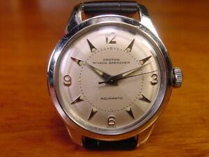 Vintage Men's 17-Jewel Croton Nivada Grenchen Aquamatic Wristwatch