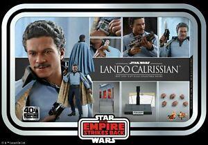 Hot Toys 1:6 Lando Calrissian Rebel Alliance MMS588 Male  Soldier Figure Doll