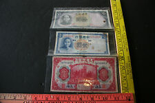 Lot of 3 CHINA BANK OF COMMUNICATIONS 1 & 10 YUAN 1914, 1936, 1937