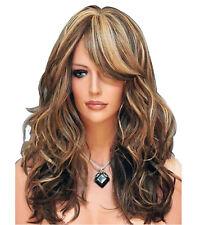Ladies Long Blonde Wig Full Fashion Wig Choc Brown Honey Blonde Blend Wigs