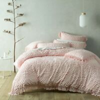 Bianca Savannah Soft Cotton Chenille Quil Cover Set Pink