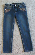 Z. Cavaricci girls skinny jeans with leather applique on pockets size 6X