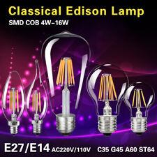 e14 e27 Globo Candela Edison Filamento Lampadina 4-16W Lampade Lampada 1/10x D3
