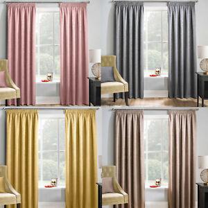 Matrix Pencil Pleat Blockout Curtains Choice of Colour & Sizes