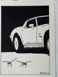 Original Corvette magazine cartoon art - September 1994 illustration - VETTE