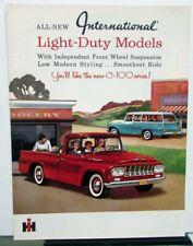 1961 International Harvester Model C 100 Light Duty Truck Pickup Sales Brochure