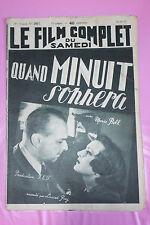 Le Film Complet du Samedi Quand Minuit Sonnera Marie Bell N°2017 1937