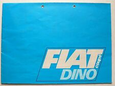 Prospekt Fiat Dono Coupe 2 Líter, 7.1968, 24 Seiten