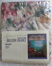 "Galleria For Mervyn's Balloon Valance Ruffled Floral 72""×17"" *New (#60)"