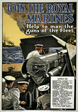 More details for w98 vintage wwi british royal marines war recruitment poster ww1 a1 a2 a3