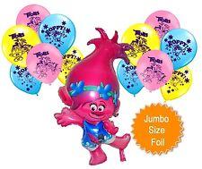 Trolls Poppy Jumbo Helium Quality Foil + 12 Latex Balloons Party Decoration