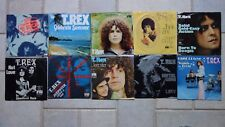 """T. REX - 10 Singles 7"""" all with picture sleeves tutti con immagine GUSCIO GERMANY T. Rex"""