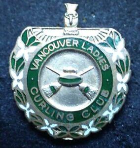 Vintage Vancouver Ladies Curling Club Pin