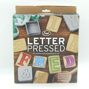 Fred Letter Pressed Combination Cookie Cutters & Stampers Alphabet