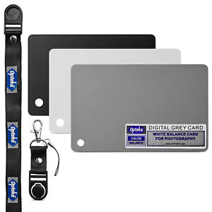 Opteka Pocket-Sized Grey White Balance Card 18% Exposure Kit for Digital Cameras