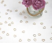 Wedding Table Decorations - Hollow Rustic Small Wooden Hearts Love Confetti
