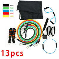 11/13X  Resistance Band Set Yoga Pilates Abs Exercise Fitness Tube Workout Bands