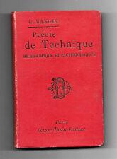 Précis de Technique Microscopique et Bactériologique - G.Mangin -1896