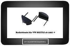 Radioblende VW BEETLE ab 1997 ->  Autoradio Einbaurahmen  Schwarz /R1/