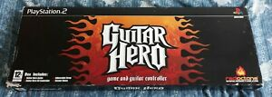 Guitar Hero PlayStation 2 PS2 Boxed Complete With Guitar, Strap