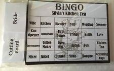 Personalised Kitchen Tea/ Bridal Shower Game - BINGO - 20 Guests FREE POSTAGE