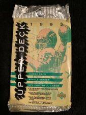 1993 UPPER DECK 22 CARD JUMBO FOOTBALL PACK SEALED