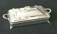 Vintage 25th Anniversary Crescent Silver Plate Serving Dish with Pyrex Tray