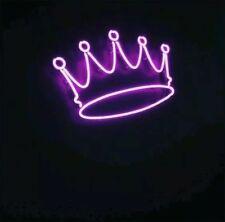 "New Crown Purple Neon Light Sign Lamp Beer Pub Acrylic 14"""