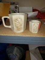 Nascar Racing #3 Dale Earnhardt Sr 3-D Beige Ceramic Mug & Shot Glass cup